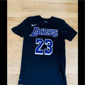 Nike Dri-Fit Lakers Le Bron James Tee New Cond